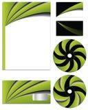 Green vs black company  set Royalty Free Stock Photography