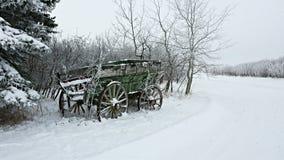 Green wagon Stock Photo