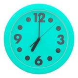 Green wall clock Royalty Free Stock Photo