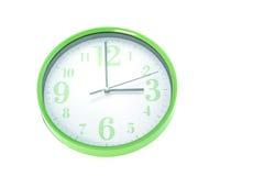 Green wall clock Stock Photo