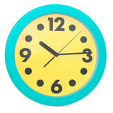Green wall clock Royalty Free Stock Photo