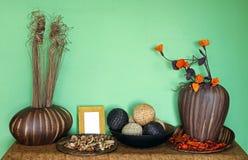 Green wall decor Royalty Free Stock Photography