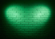 Green wall with heart shape light effect and shadow, abstract background photo Royalty Free Stock Photo