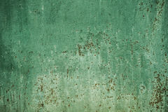 Green wall texture background with rust Stock Photos