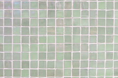 Green wall tiles porcelain mosaic texture background. beautiful cozy vintage style interior home decoration. Green wall tiles porcelain mosaic texture royalty free stock photos