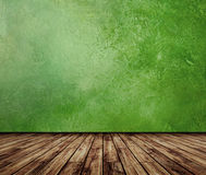 Green wall vintage interior Stock Photography