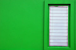 Green wall and window Royalty Free Stock Image