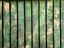 Green wall wood very ancient and used Royalty Free Stock Photography