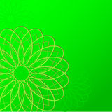 Green wallpaper background with round Stock Photography