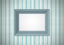Green wallpaper with empty framework Royalty Free Stock Image