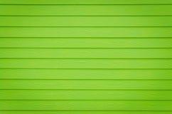 Green walls built of wood Stock Image