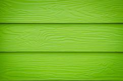 Green walls built of wood. Used for the background Stock Photos