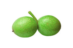 Free Green Walnuts Isolated On White Background Stock Photo - 75981450