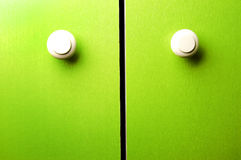 Green wardrobe door royalty free stock photography