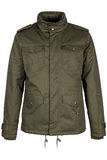 Green warm jacket. Isolated on white background Stock Images