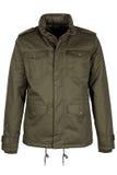 Green warm jacket. Isolated on white background Stock Image