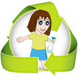 Green Washing Green Clean vector illustration
