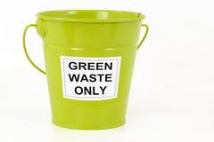 Green waste bin Stock Photo