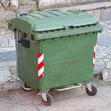 Green Waste Container Royalty Free Stock Images