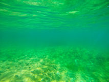Green water in Alghero Stock Photography