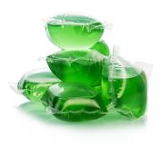 Green water bags for ice Stock Image