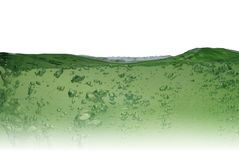 Green water from bubbles Royalty Free Stock Photo