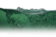 Green water from bubbles Stock Images