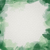 Green Water Color Frame. Frame from  watercolor stains on white paper Stock Photos