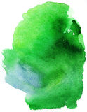 Green water color stain Royalty Free Stock Photography
