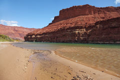 Green water of the Colorado River Stock Image