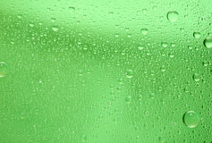 Green water drop background Stock Photography