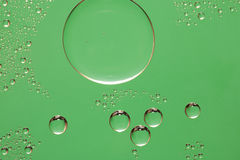 Green water drop background Stock Photo