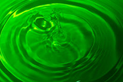 Green water drop splash Royalty Free Stock Photo