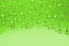 Green water drops Royalty Free Stock Photography