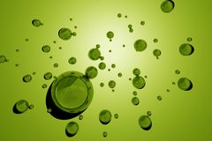 Green Water Drops Stock Photo