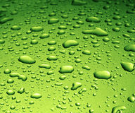 Green Water Drops Royalty Free Stock Photo