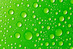 Green water drops Stock Photo