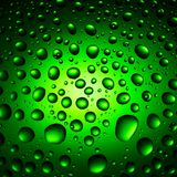 Green Water Drops Background Royalty Free Stock Image