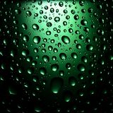 Green Water Drops Background Royalty Free Stock Photos