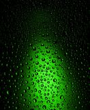 Green Water Drops Background Royalty Free Stock Images