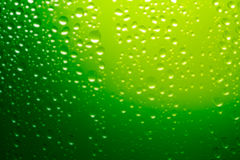 Green water drops background Royalty Free Stock Photography