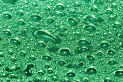 Green water drops Royalty Free Stock Photos