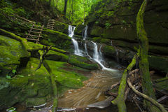 Green Water Fall Royalty Free Stock Photography