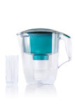Green water filter and glass Royalty Free Stock Photo