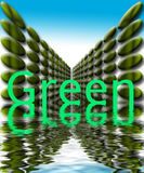 Green with water graphic. Green planet graphic with rippling water Royalty Free Stock Images