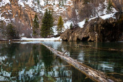 Green water of Hanging Lake, Colorado, USA. Green water of Hanging Lake, Colorado Stock Image