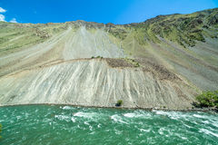 Green water of Kekemeren river, Tien Shan Stock Photos