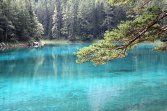 Green Water Lake. Picture of the Grüner See in Styria, Austria. A Lake where the water is extremely clear and has a green color Stock Photography