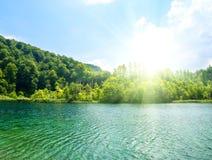 Green water lake Stock Photos