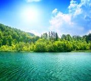 Green water lake Stock Image